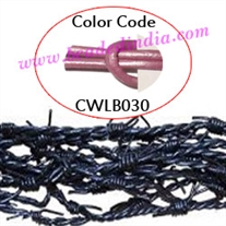 Barb Wire Leather Cords 2.5mm round, metallic color - magenta.