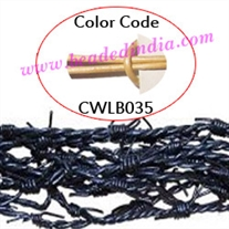Barb Wire Leather Cords 1.5mm round, metallic color - pale yellow.