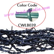 Barb Wire Leather Cords 1.0mm round, metallic color - mint green.