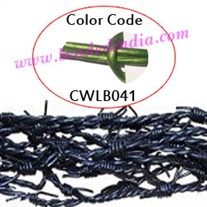 Barb Wire Leather Cords 2.0mm round, metallic color - green.