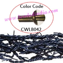 Barb Wire Leather Cords 2.0mm round, metallic color - dark green.