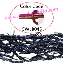 Barb Wire Leather Cords 2.0mm round, regular color - ruby red.