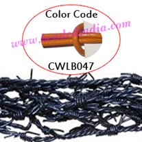 Barb Wire Leather Cords 2.0mm round, regular color - marigold.