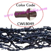 Barb Wire Leather Cords 2.0mm round, regular color - walnut.