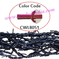 Barb Wire Leather Cords 2.0mm round, regular color - deep pink.