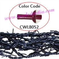 Barb Wire Leather Cords 2.0mm round, regular color - cherry.