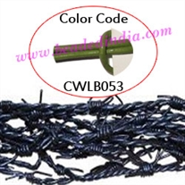 Barb Wire Leather Cords 1.5mm round, regular color - matian green.