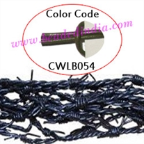 Barb Wire Leather Cords 2.0mm round, regular color - mehandi.