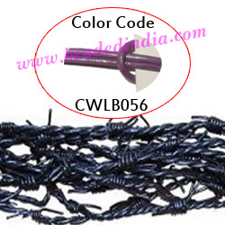 Barb Wire Leather Cords 1.5mm round, regular color - lilac.