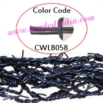 Barb Wire Leather Cords 1.0mm round, regular color - grey.