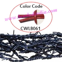 Barb Wire Leather Cords 2.5mm round, regular color - rust.