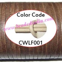 Leather Cords 1.5mm flat, regular color - white.