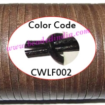 Leather Cords 1.5mm flat, regular color - black.