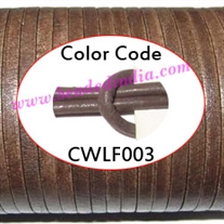 Leather Cords 1.5mm flat, regular color - tan.