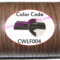 Leather Cords 1.5mm flat, regular color - carbon grey.
