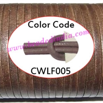 Leather Cords 1.5mm flat, regular color - dusty plum.