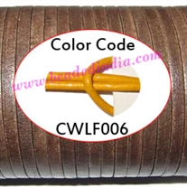 Leather Cords 1.5mm flat, regular color - yellow.