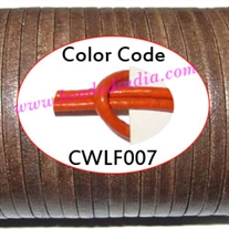 Leather Cords 1.5mm flat, regular color - orange.