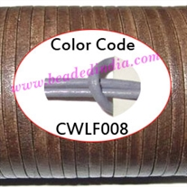 Leather Cords 1.5mm flat, regular color - lavender.