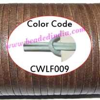 Leather Cords 1.5mm flat, regular color - sky blue.