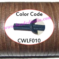 Leather Cords 1.5mm flat, regular color - blue.