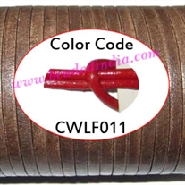 Leather Cords 1.5mm flat, regular color - red.
