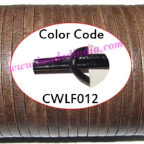 Leather Cords 1.5mm flat, regular color - violet.