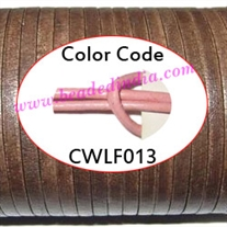 Leather Cords 1.5mm flat, regular color - baby pink.