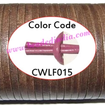 Leather Cords 2.5mm flat, regular color - light purple.