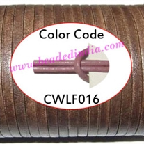 Leather Cords 1.5mm flat, regular color - pale purple.