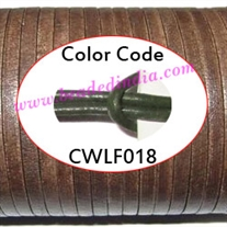 Leather Cords 1.5mm flat, regular color - bottle green.