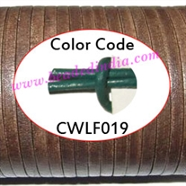 Leather Cords 1.5mm flat, regular color - leaf green.