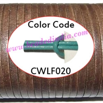 Leather Cords 1.5mm flat, regular color - mint green.