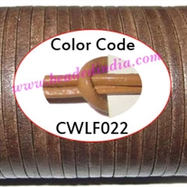 Leather Cords 1.5mm flat, regular color - beige.