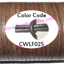 Leather Cords 1.5mm flat, metallic color - grey.