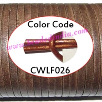 Leather Cords 1.5mm flat, metallic color - copper.