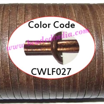 Leather Cords 1.5mm flat, metallic color - bronze.