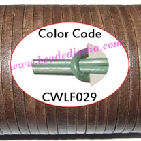 Leather Cords 6.0mm flat, metallic color - shell.