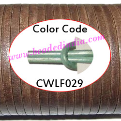 Leather Cords 2.0mm flat, metallic color - shell.