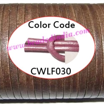 Leather Cords 1.5mm flat, metallic color - magenta.