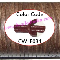 Leather Cords 5.0mm flat, regular color - tan brown.