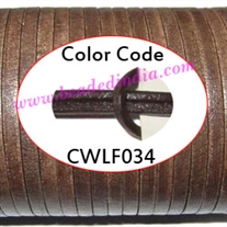 Leather Cords 5.0mm flat, regular color - dark brown.
