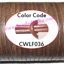 Leather Cords 2.0mm flat, metallic color - faded pink.
