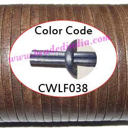 Leather Cords 2.5mm flat, metallic color - power blue.
