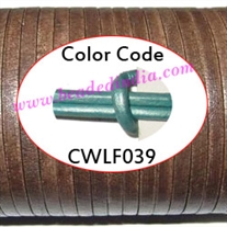 Leather Cords 2.0mm flat, metallic color - mint green.