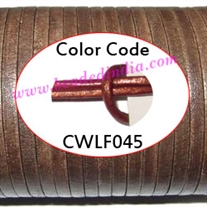 Leather Cords 3.0mm flat, regular color - ruby red.