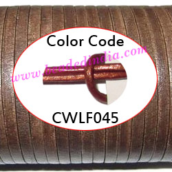 Leather Cords 6.0mm flat, regular color - ruby red.
