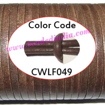 Leather Cords 2.0mm flat, regular color - walnut.