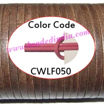 Leather Cords 5.0mm flat, regular color - pink.