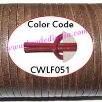 Leather Cords 3.0mm flat, regular color - deep pink.